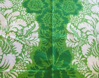 1963 Marimekko Oy Suomi-Finland, Fabric, Marimekko, Maija Isola, Ananas, Green, 1960's, Finnish Fabric, Modern Fabric