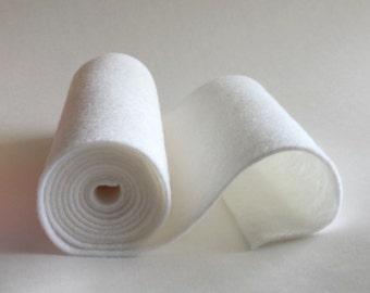 SALE 5x36 White Wool Blend Felt Roll