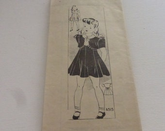 Vintage Anne Adams Mail Order Pattern 4515 Girls Dress and Bolero Size 10
