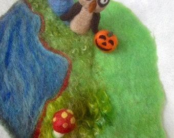 Wool Felted Custom Play Mat for Children-Regular Size-Made to Order