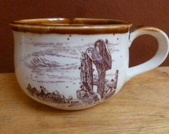 1980 Enesco Sky & Plains soup mug