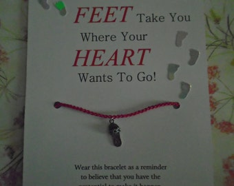 May Your Feet Wish Bracelet (updated version)