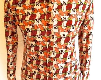 VIntage Montgomery Wards Shirt Geisha Disco Woman's size 10