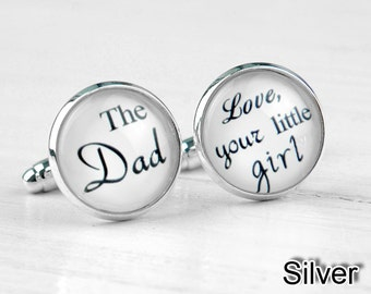 Custom Cuff Links, Personalized Father of the Bride Wedding Cuff Links, Wedding cufflinks, Groom cuff links, bestman cuff links-087