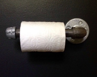 Industrial-Inspired Pipe Rod Toilet Paper Holder