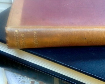 Plutarch's Lives, Translated by J & W Langhorne, London, Walter Scott, Ltd. early 1900's leather bound book