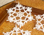 Crochet snowflakes Hanging ornaments Winter decor Crochet ornament White crochet snowflakes Handmade ornaments