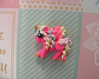 colorful unicorn charm