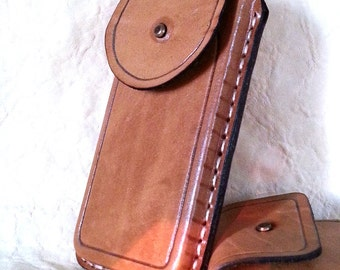 Handmade Leather Unique Stitched for Apple iPhone 5 Cover / Case