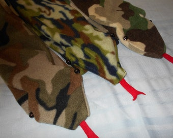Camouflage SNAKE FLEECE SCARVES