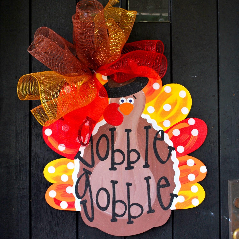 🔎zoom & Turkey Door Hanger Thanksgiving Wreath Turkey Wreath Pezcame.Com