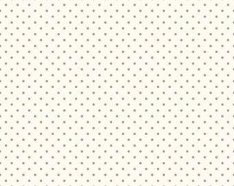 """Riley Blake Designs """"La Creme Swiss Dot"""" Gray - 1/2 yard"""