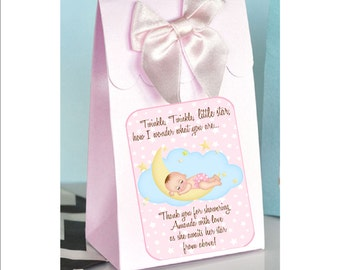 Personalized Baby Girl Favor Boxes   Baby Shower Favor, Baby Girl Shower,  Baby Girl