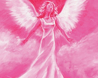 Angel canvas print from origional painting - A4