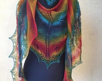 Large multicolored dental shawl