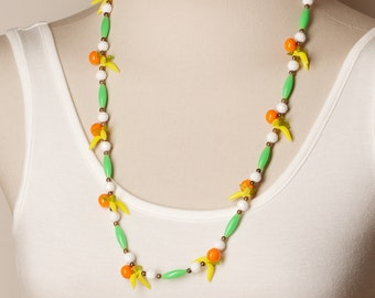 Vintage Fruit Bead Necklace from 1970s