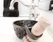 Shaving Mug Set Includes Soap And Natural Brush Shaving Gift MADE TO ORDER