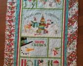 Merry Christmas/Snowmen/whimsical Christmas panel