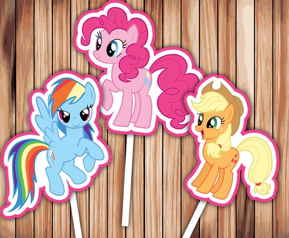 My Little Pony Cupcake Toppers Party Decor Printable Digital
