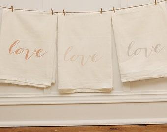 LOVE tea towels Set