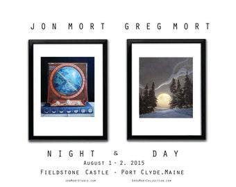 Poster - Greg Mort and Jon Mort NIGHT & DAY Open Studio Signed Fine Art Poster