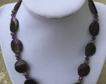 Purple Shell Bead Necklace