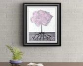 Pink Tuft Tree Signed Art Print of Signature Original By Rafi Perez