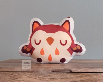 Maroon Owl Cushion
