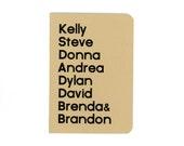 Beverly Hills 90210 notebook - nineties tv show - journal