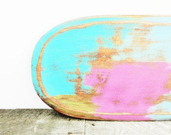 Funky Display Tray - Turquoise Pink Multi Colored - Bright Happy Decor