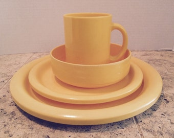 Yellow Plastic Camping Dishes Ingrid Ltd Chicago