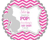 Ready to Pop Labels Stickers for Baby Shower  favors, gift tags, address labels
