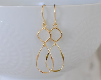 The Emery Earrings - Opal/Gold