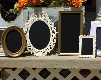Shabby Chic Picture Frames /  Set Of 6 Chalkboard Frames /  Rustic Farmhouse Wall Frames