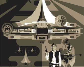 Star Wars - Han Solo and Chewbacca - - - A1 - - - Poster ONLY 3 LEFT
