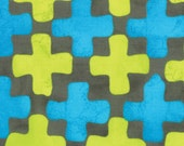 Quilting Weight Cotton Fabric Simple Marks Summer by Zen Chic for Moda in Steel 1 yard