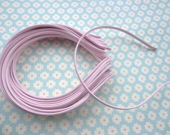 10 pcs Pink Cloth Covered Headband 5mm Wide