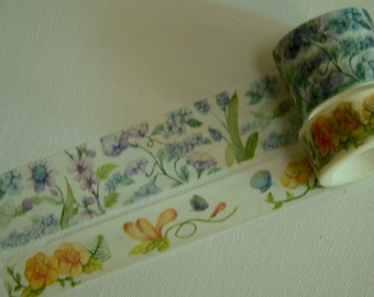 2 Rolls of Japanese Washi Masking Tape- Sweet Smell Floral