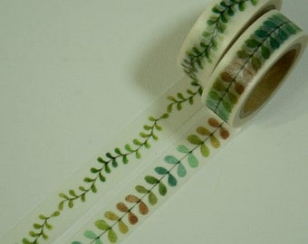 2 Rolls of Japanese Washi Tape Roll- Leaves