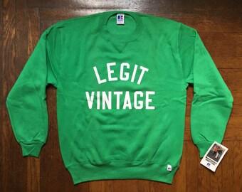 legit vintage X russell athletic crewneck mens size large
