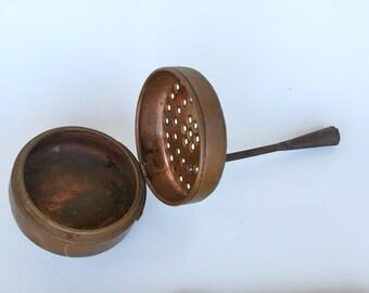 Antique Italian copper bed warmer