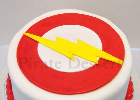 Edible Cake Topper THE FLASH Justice League Edible