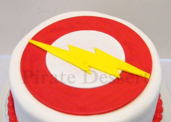 Justice League Cake Decorating Kit : Edible Cake Topper THE FLASH Justice League Edible