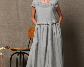 Linen dress C543