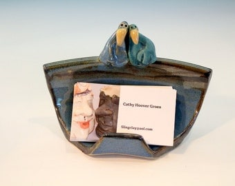 Ceramic Bird Business Card Holder
