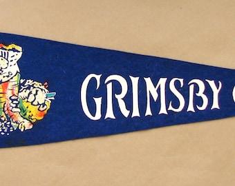 Vintage 'Grimsby, Ont. Canada' Ontario Pennant