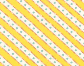 Moda - Celebration Girl by Bunny Hill Designs Stripe in Yellow 2866-14