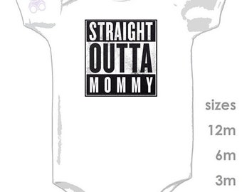 Straight Outta Mommy - Straight Outta Compton - Cute One Piece for your Little Gangster - Beats - NWA - Dr Dre