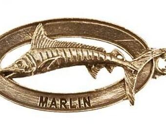 Pewter ~ Marlin Keychain ~ SK002