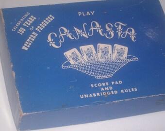 1950s CANASTA CARD GAME